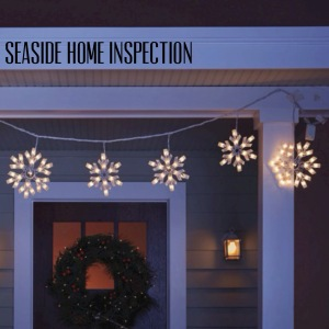 Seaside Home Inspection Holiday Lights
